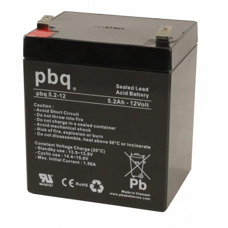 Akumulator AGM PBQ 5,2Ah - 12V